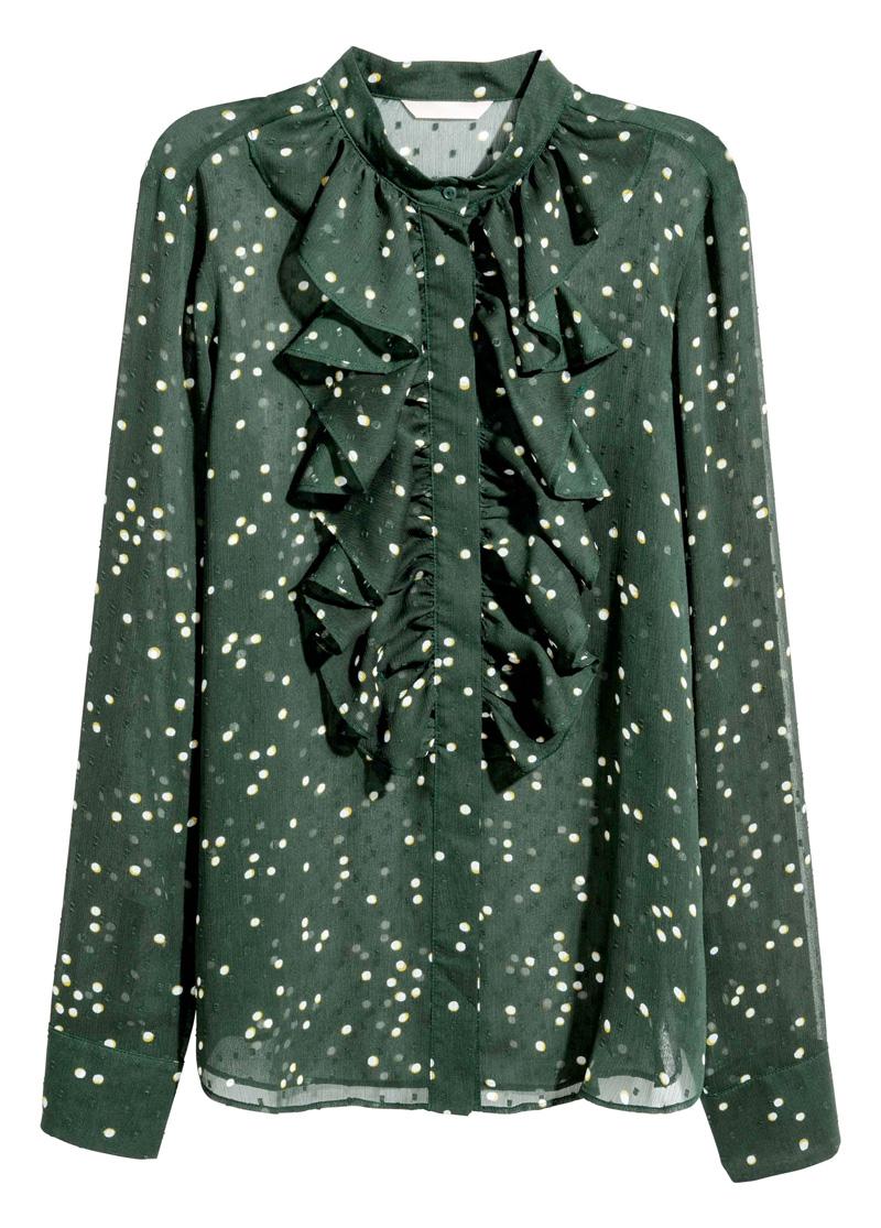 Smaragdgrüne Bluse von H&M