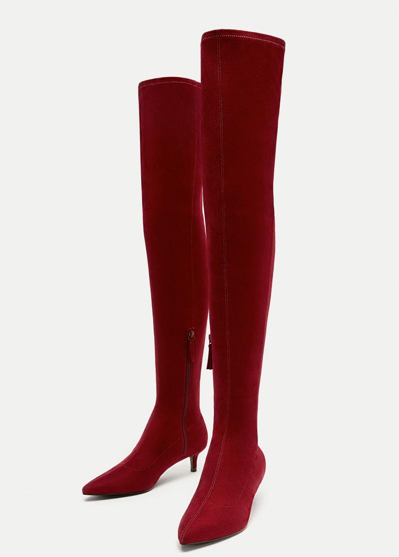 Overknee Stiefel von Zara
