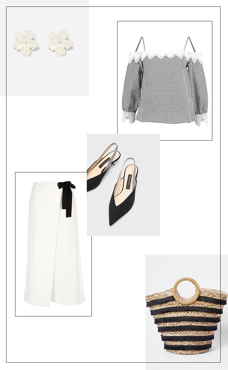 Frühlingsoutfit Black&White Elegance